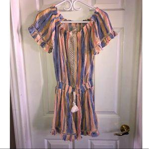 Pastel over the shoulder dress
